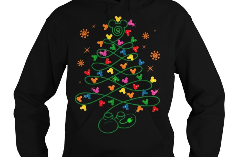 Pine trees Mickey mouse Hoodie